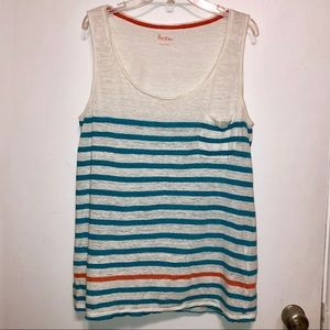Boden | Striped Linen Tank Top